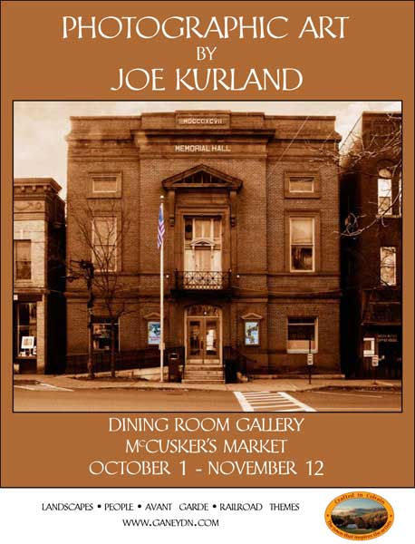Joe Kurland photogrphic art exhibit poster