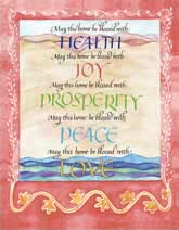 House Blessing print by Peggy Davis