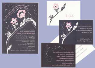 Bat Mitzvah Invitation set - Lily
